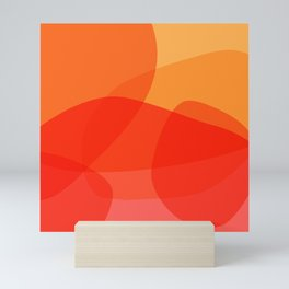 Abstract Organic Shapes in Red Mini Art Print