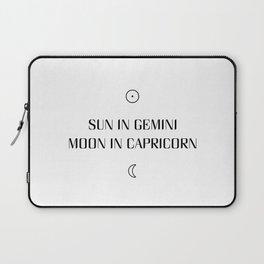 Gemini/Capricorn Sun and Moon Signs Laptop Sleeve