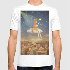 In night sky Mens Fitted Tee X-LARGE White