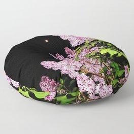 Lilacs at Night Floor Pillow