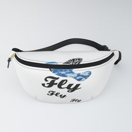 Flying Bird with Clouds Fanny Pack