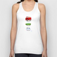 cars Tank Tops featuring Cars by Alapapaju