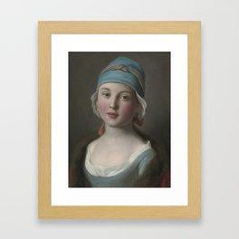 Portrait of lady Pietro Antonio Rotari (Italian. 1707-1762 Framed Art Print