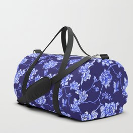Chinoiserie Foral Navy Duffle Bag