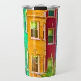 Colorful Neighborhood Travel Mug