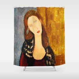 "Amedeo Modigliani ""Jeanne Hebuterne, seated"" Shower Curtain"