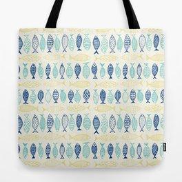 Fish Illustration Pattern Tote Bag