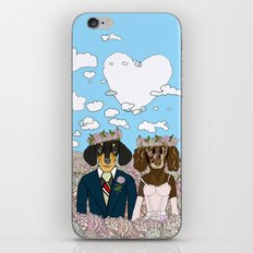 Dachshund Lovers - Honeymoon iPhone Skin