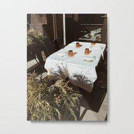 table for four Metal Print