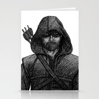 arrow Stationery Cards featuring Arrow by Jack Kershaw