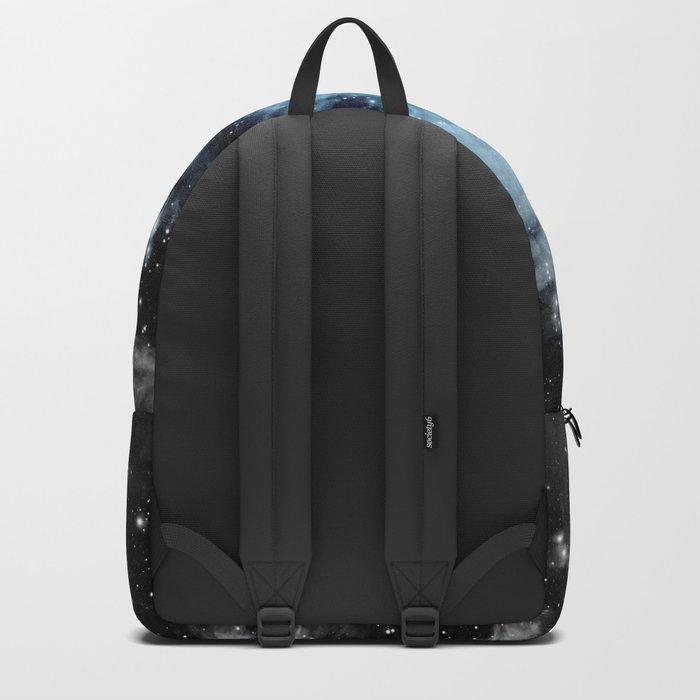 Orion nebULa Black White Blue Space Backpack