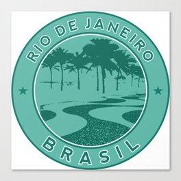 Rio de Janeiro, Brazil, Copacabana beach, green circle Canvas Print