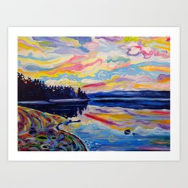 The Denman Sunrise Art Print