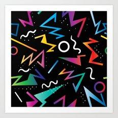 80's Inspired Pop Art Pattern Art Print