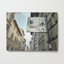 Teatro Direction Board Metal Print