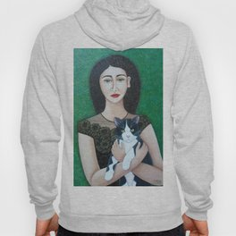 Woman with cat soul Hoody