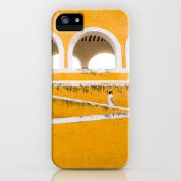 Colonial Mexico, Izamal in Yellow #buyart #society6 #decor iPhone Case