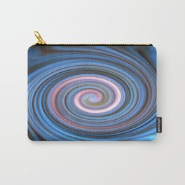 Blue Pastel Swirl Carry-All Pouch
