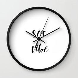 80's vibe Wall Clock