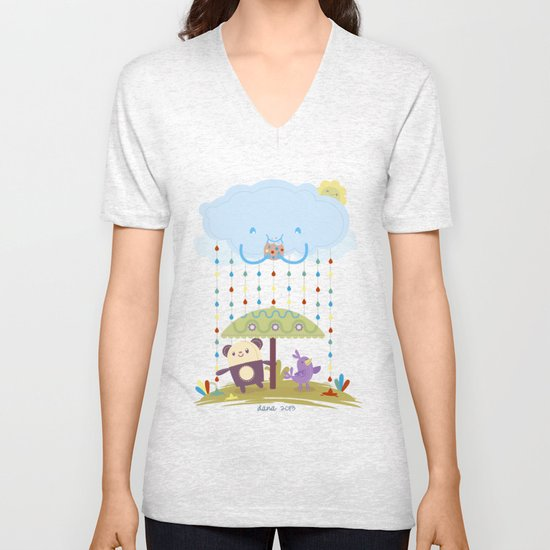 color raindrops keep falling on my head Unisex V-Neck