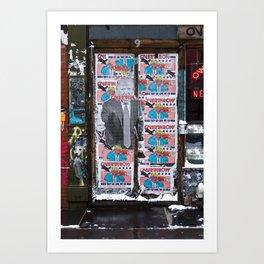 overthrow New York Art Print