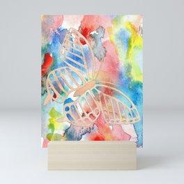 Delicate Butterfly with Open Wings Mini Art Print