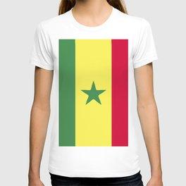Senegal flag emblem T-shirt