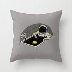 Space bath Throw Pillow