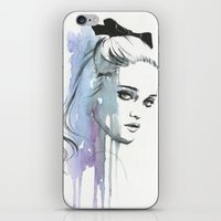 sky ferreira iPhone & iPod Skins featuring Sky Ferreira by Cora-Tiana