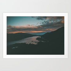 Columbia River Gorge Sunset Art Print
