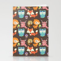 woodland Stationery Cards featuring Woodland by Maria Jose Da Luz