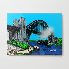 Sydney Harbour Bridge 1932 Metal Print