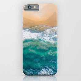 Beautiful coastline with clear sea water drone iPhone Case