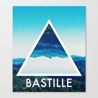 bastille Canvas Prints featuring BASTILLE by Hands in the Sky