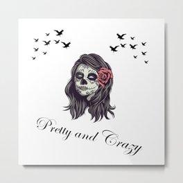 Horror Women Skull Metal Print