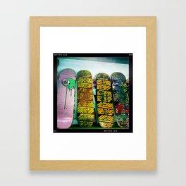 skateboards Framed Art Print