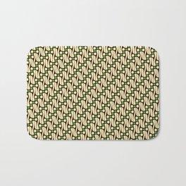 Batik Parang Green Pattern Bath Mat