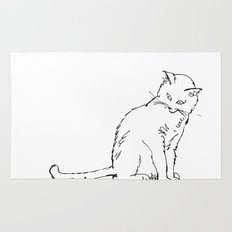 Cat illustration Rug