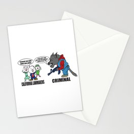 Wolf vs Sheep Stationery Cards