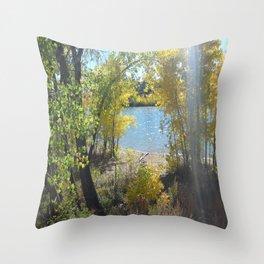 Sparkle Lake Throw Pillow