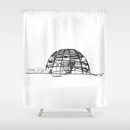 Reichstag Dome, Foster + Partners Shower Curtain