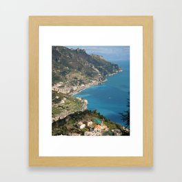 Cerulean seas off the Amalfi Coast Framed Art Print