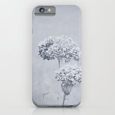 Dried Hydrangea Flowers Dreamy Monochrome Cool Tones Autumn Botanical Slim Case iPhone 6s