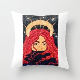 floating goddess Throw Pillow