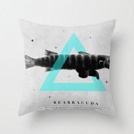 Bearracuda Throw Pillow