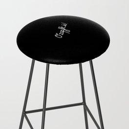 O'zapft is!   [black & white] Bar Stool