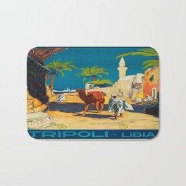 Vintage poster - Tripoli Bath Mat