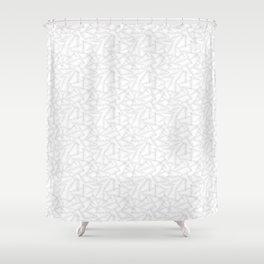 Laurel leaves ( White ) Shower Curtain