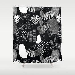 Issa Tropical B&W Shower Curtain