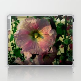 Pretty Hollyhocks Laptop & iPad Skin